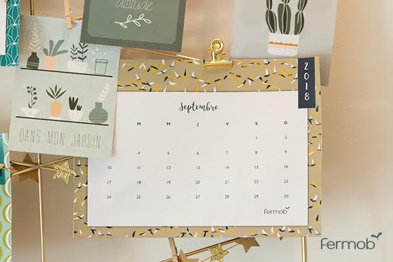 calendrier 2018 Fermob