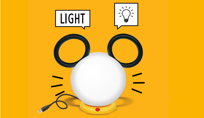 Mickey x Fermob Lampe nomade